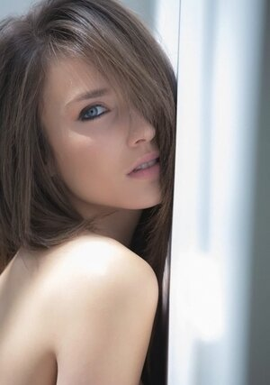 Slim beauty in stockings Malena Morgan knows how to pose provocatively
