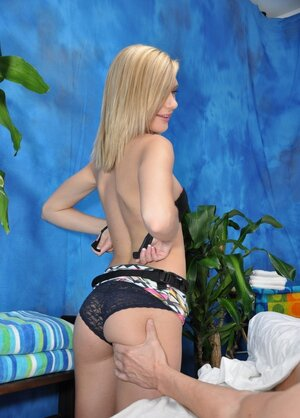 Floozy from a massage parlor Chloe Brooke allows user to sneak into her